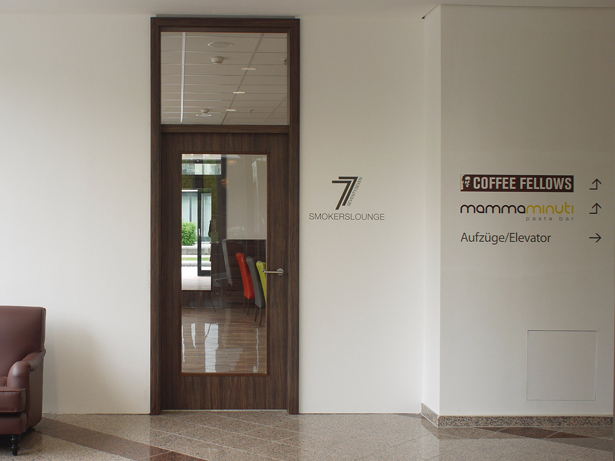Wegweisung zu MamaMinuti und Coffee Fellows