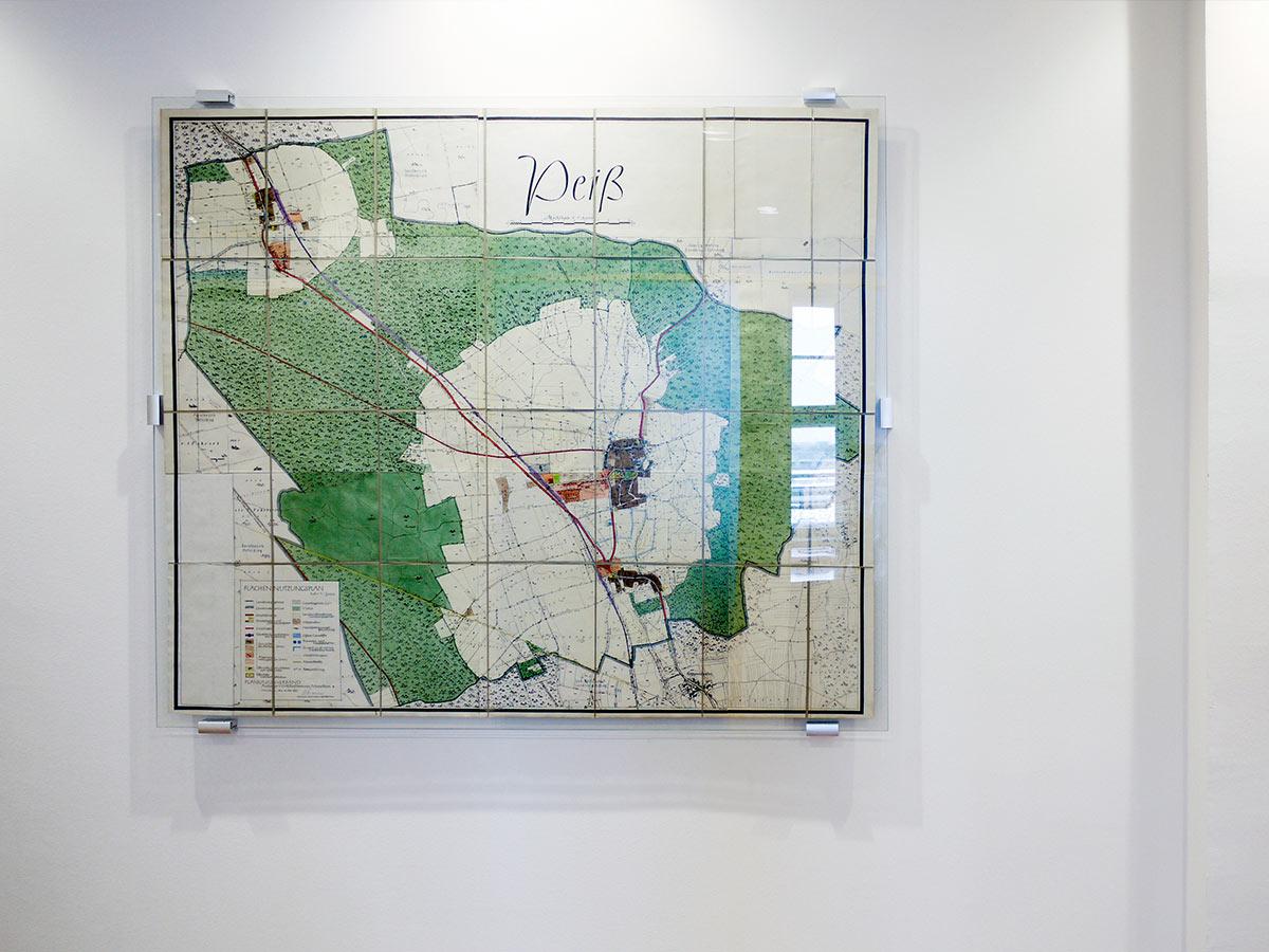 Einrahmung Landkarte