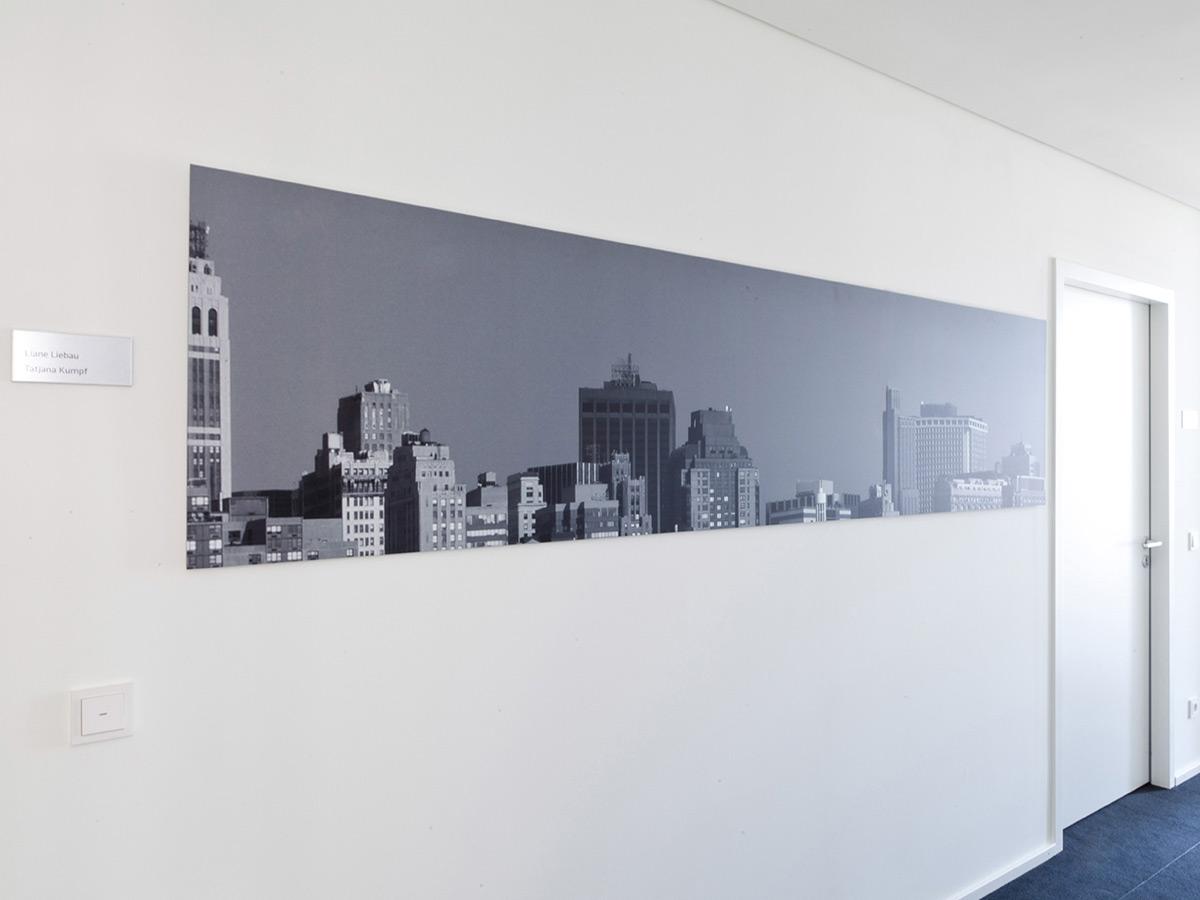 Galerie Digitaldruck auf Alu-Verbundplatte