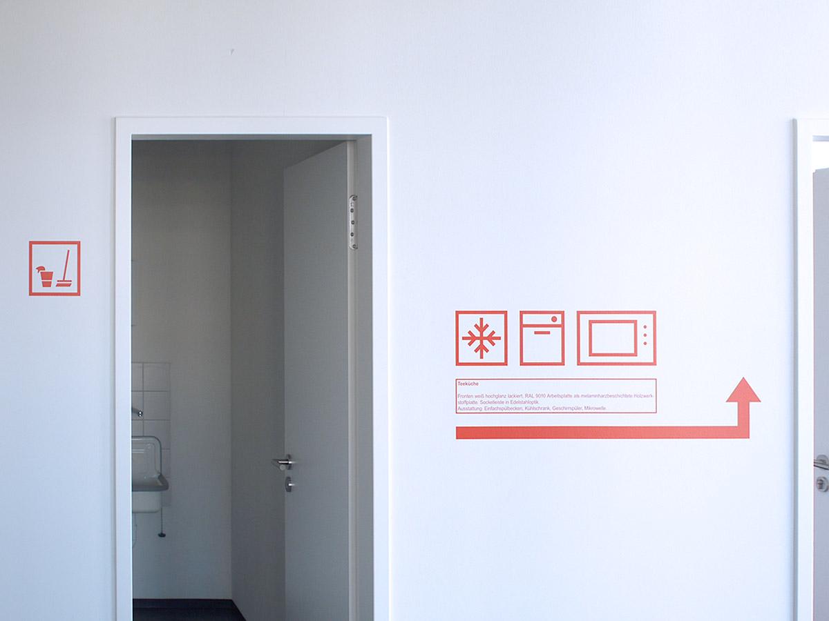 Bildzeichen für die Raumbezeichnung
